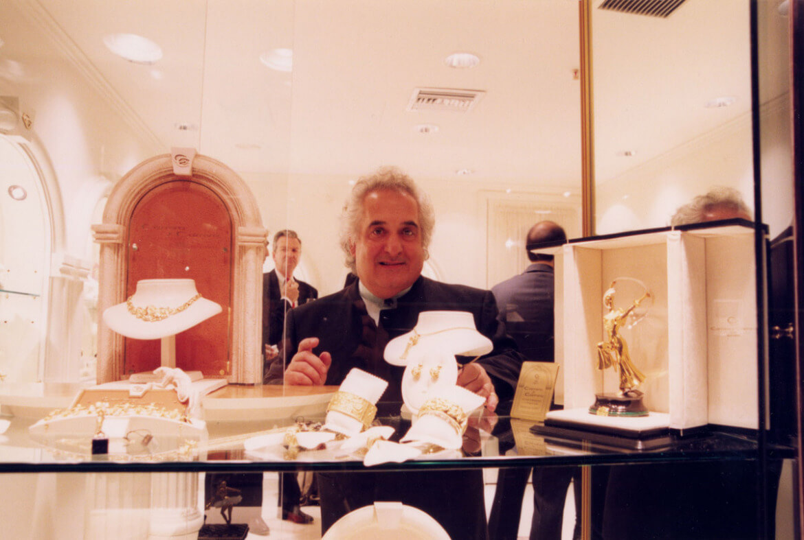 Mr. Carrera at the Grand opening of the Carrera Y Carrera Boutique