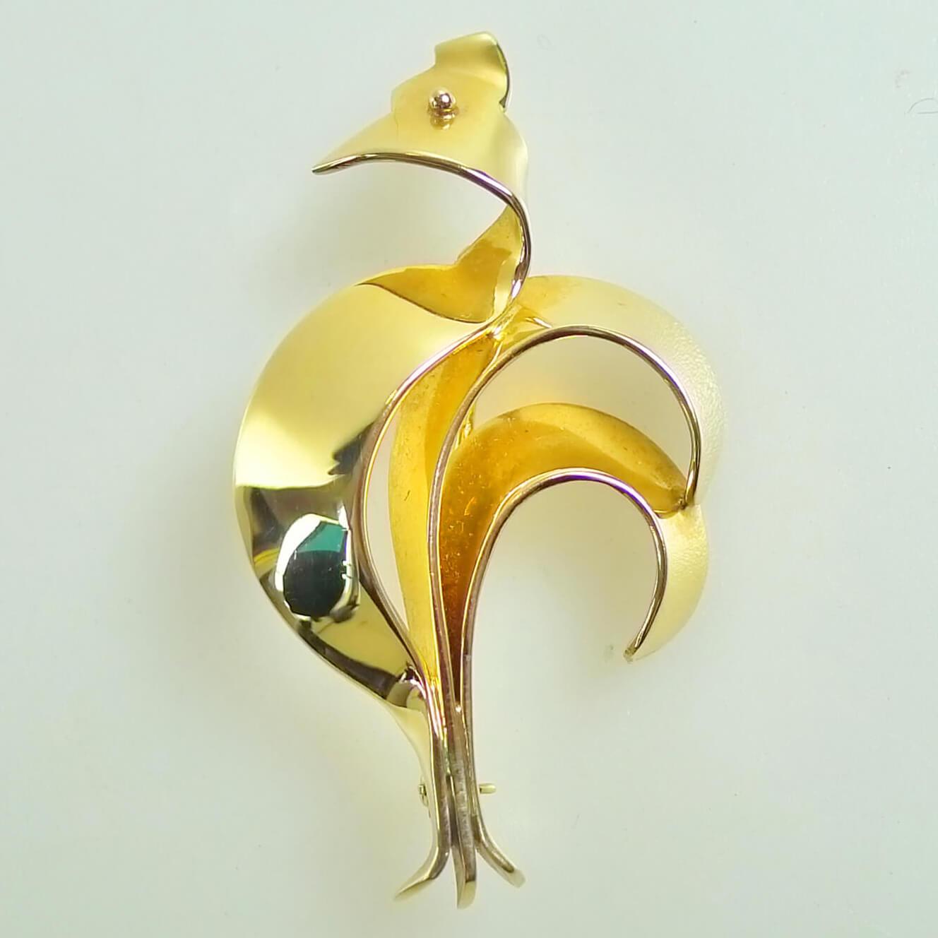 Gold Brooch By Tiffany