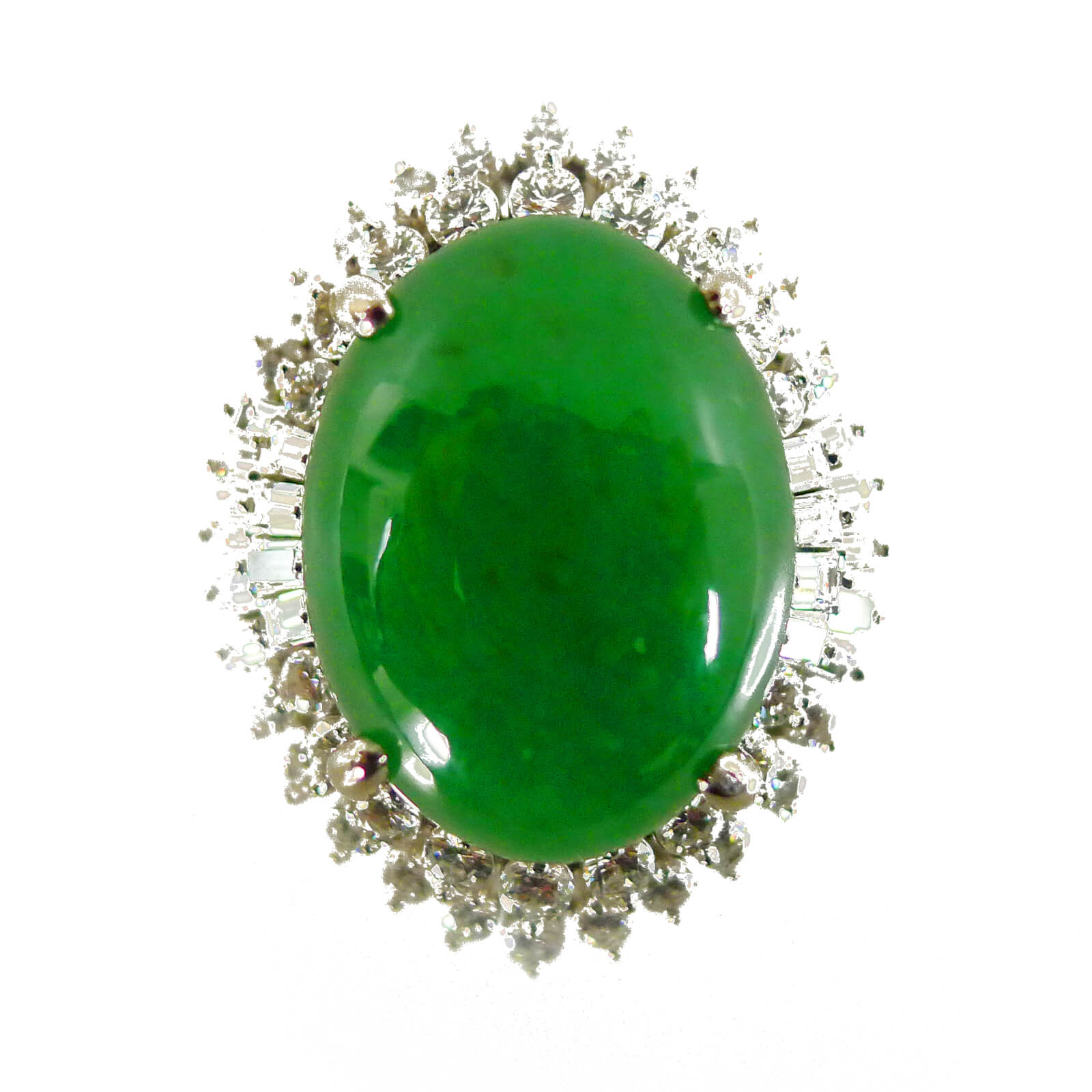 apple green jade cocktail ring