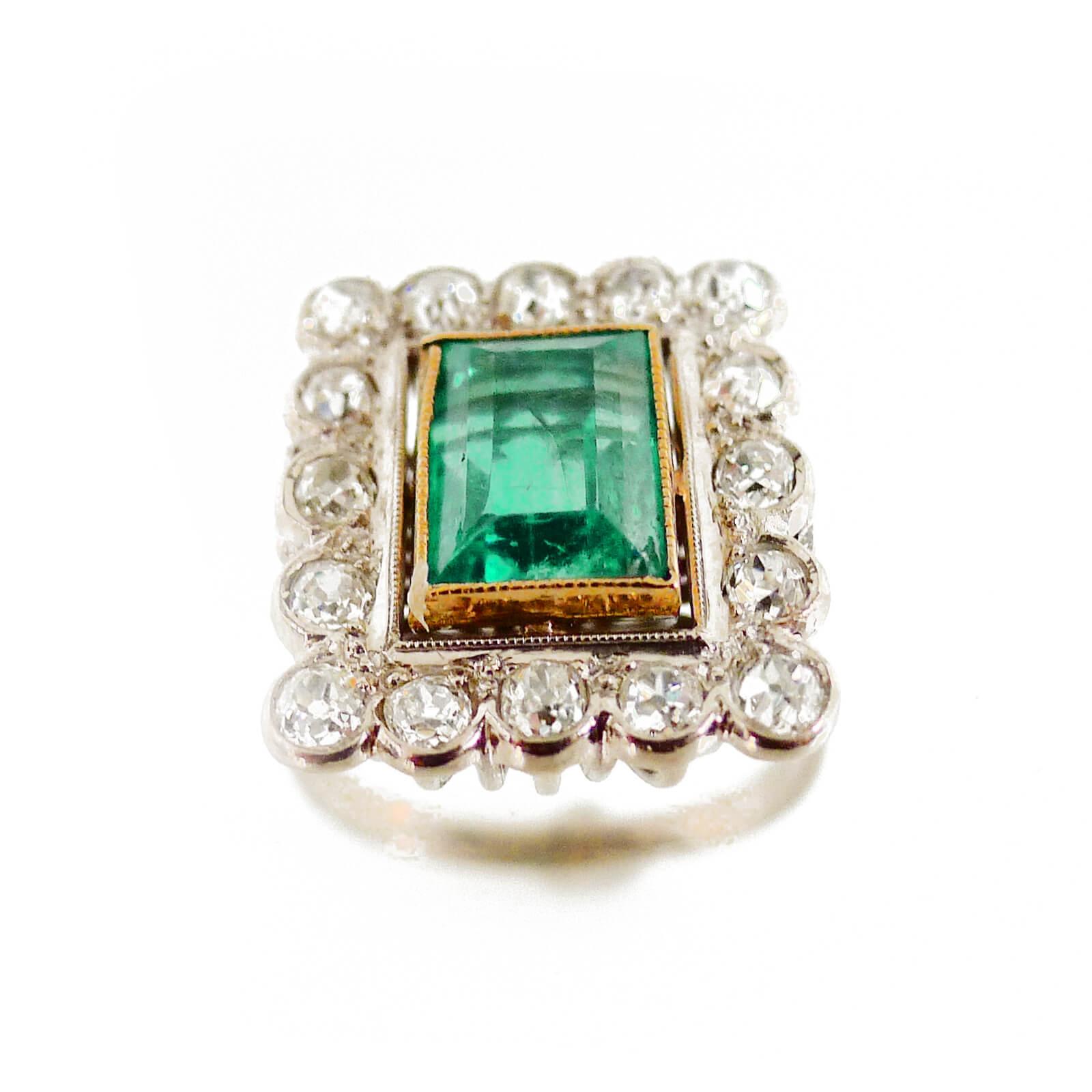 Edwardian Emerald & Diamond Ring