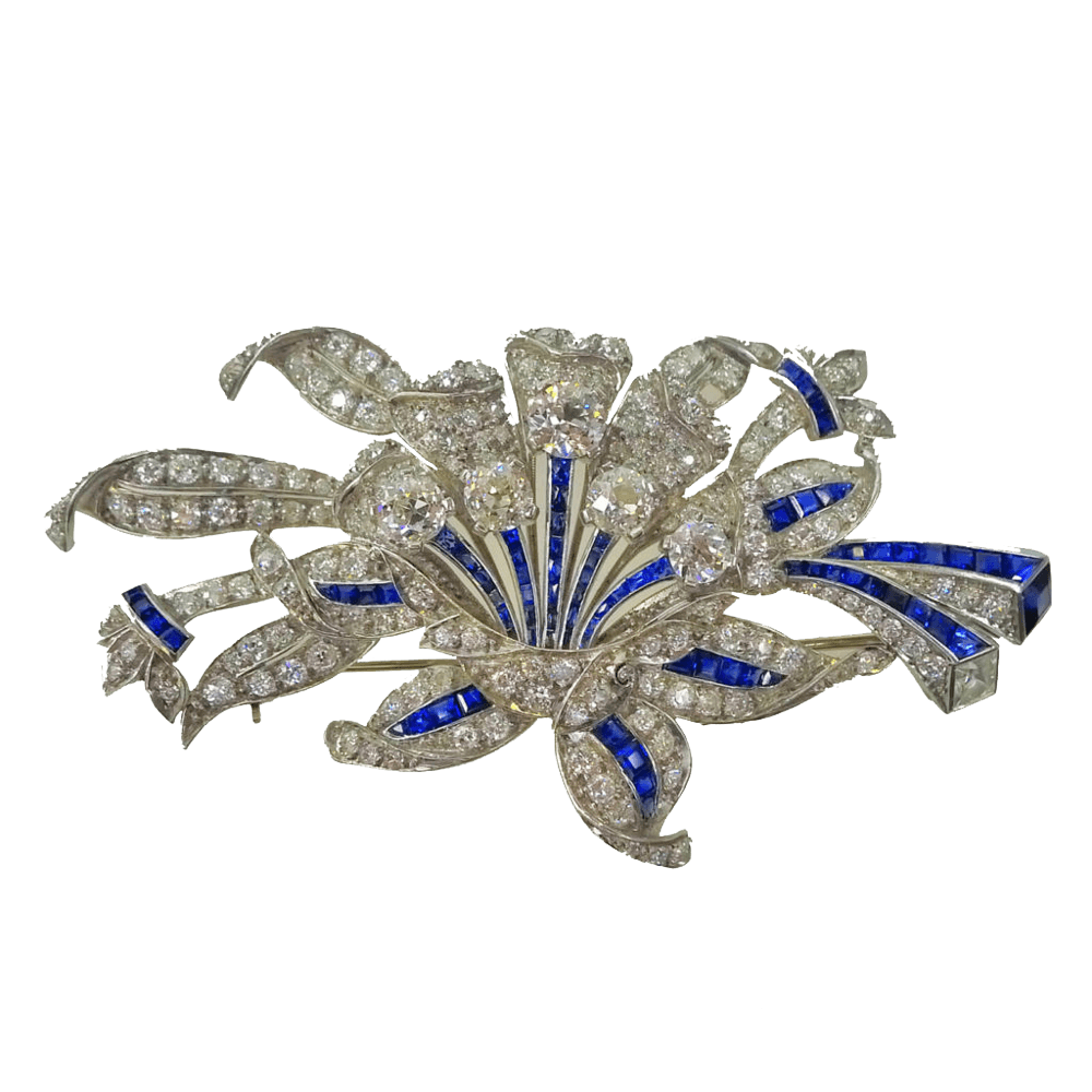 front blue product brooch sapphire brooches nila buy boho online