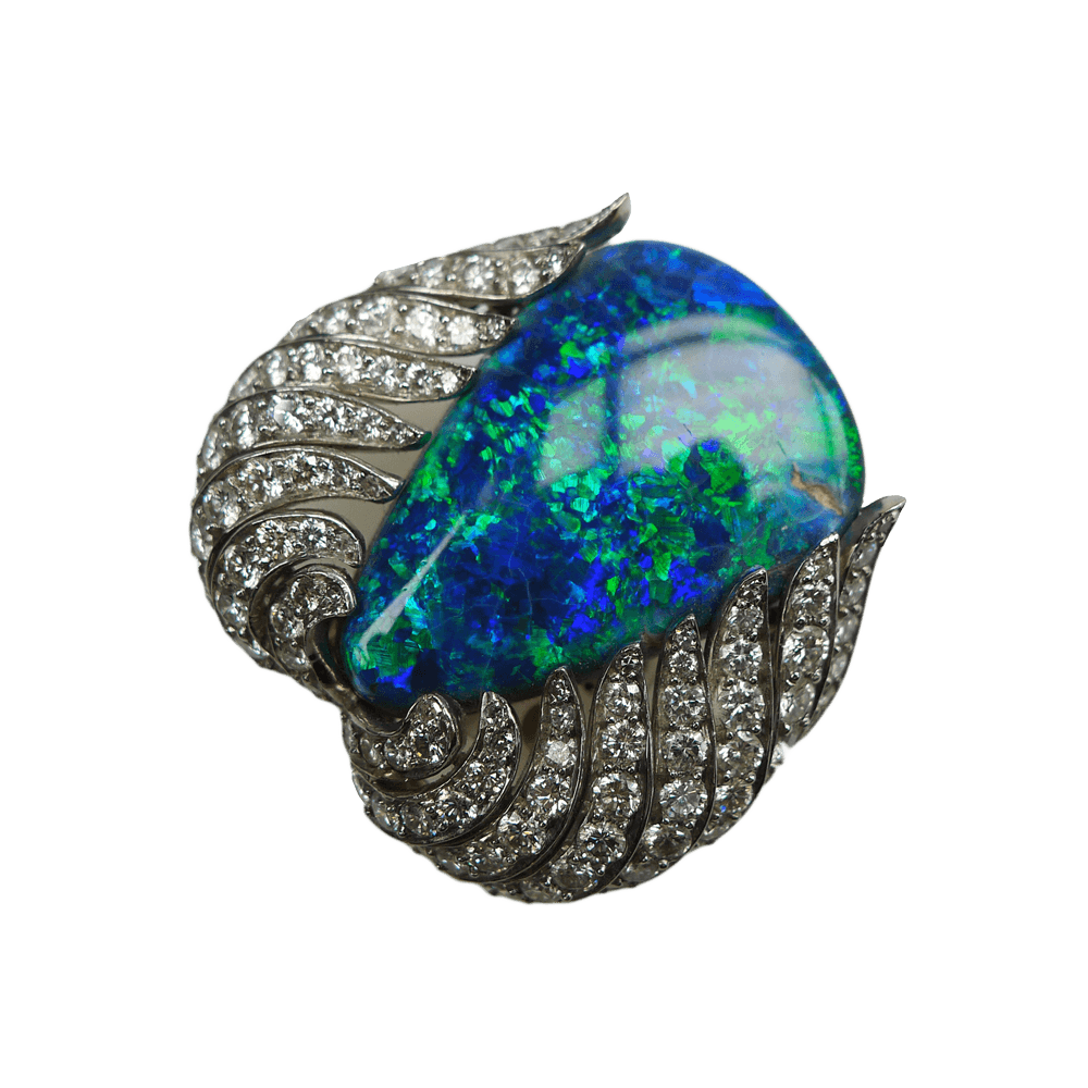 platinum-opal-diamond-brooch