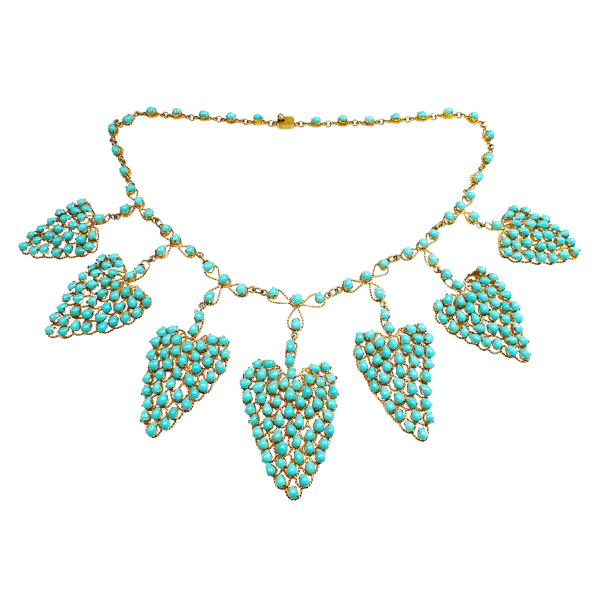 Handmade Persian Turquoise Necklace