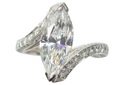 Marquise-Cut Diamond Ring