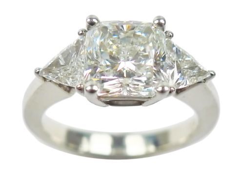 Radiant-Cut Diamond Ring