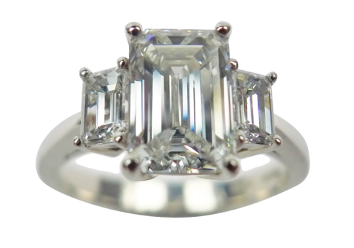 Emerald Cut Diamond Ring