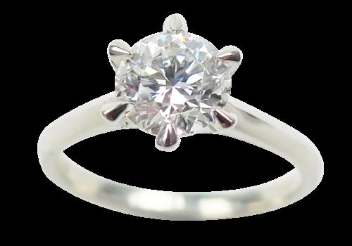 Round Brilliant-Cut Diamond Ring