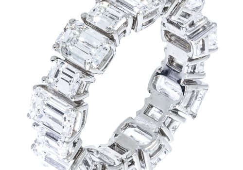Emerald Cut Diamond Wedding Band