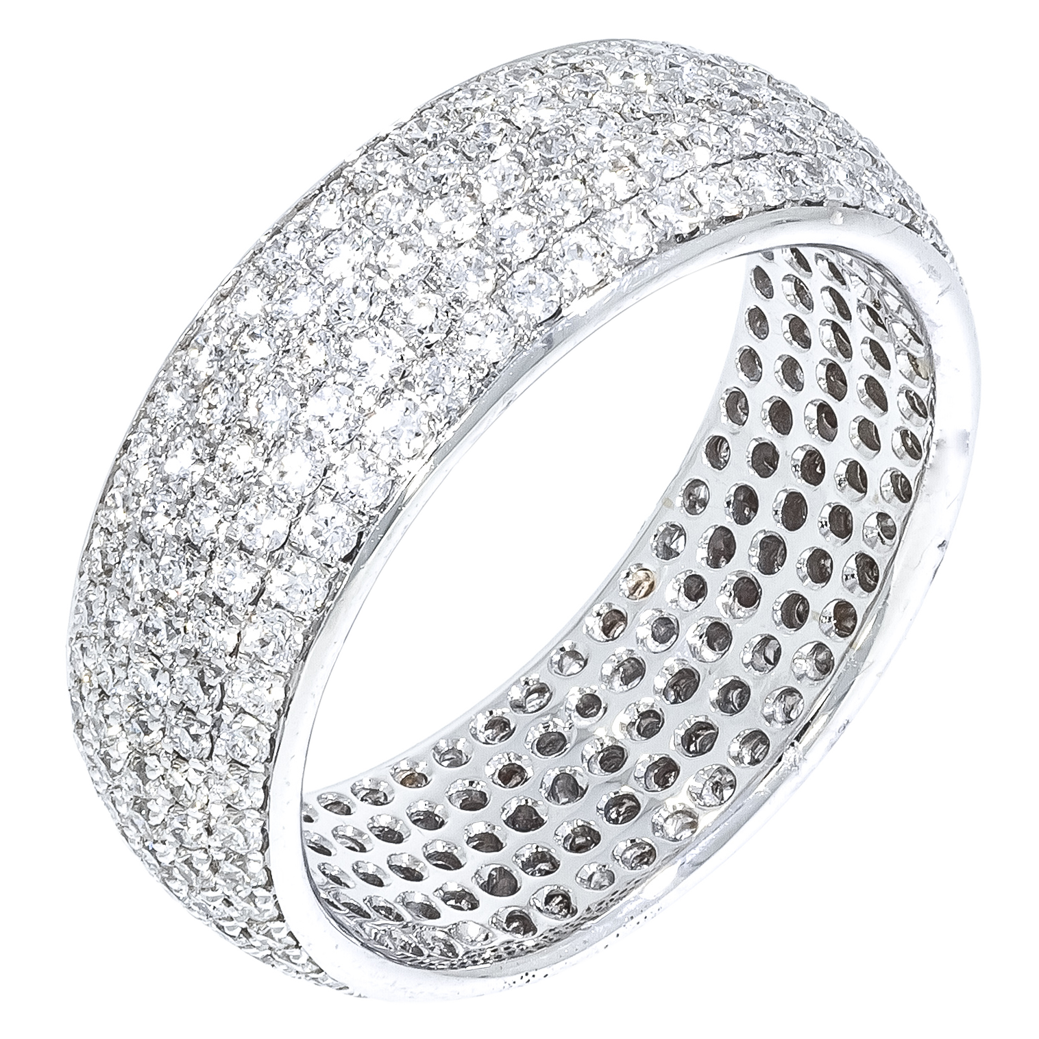 estell band in diamonds ring and with estella gold pave diamond passionvine bands love shop rose products passion