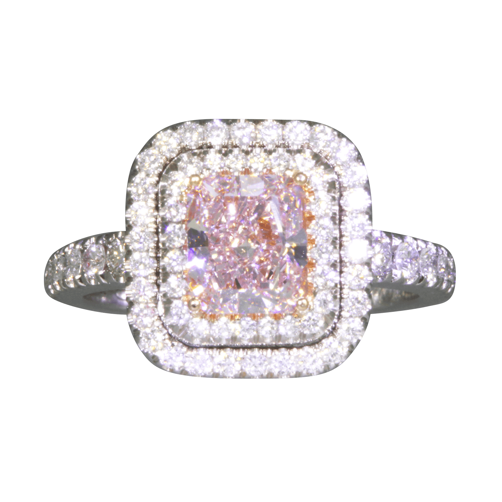 Fancy Intense Pink Diamond Ring